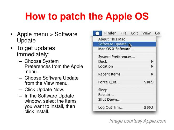 How to patch the Apple OS