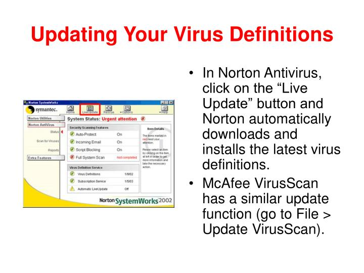 Updating Your Virus Definitions