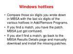 windows hotfixes