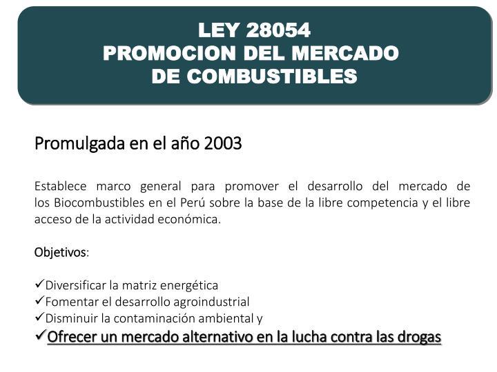 LEY 28054