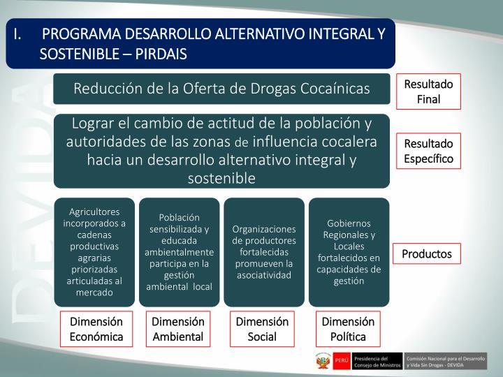 PROGRAMA DESARROLLO ALTERNATIVO INTEGRAL Y