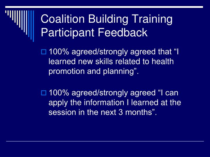 Coalition Building Training