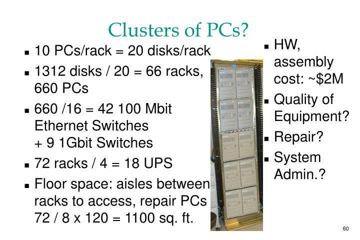 Clusters of PCs?