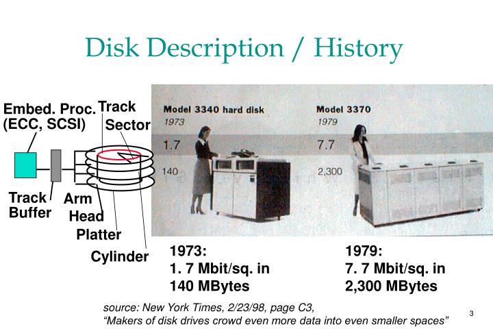 Disk Description / History