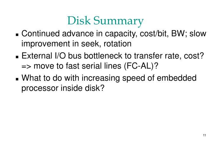 Disk Summary