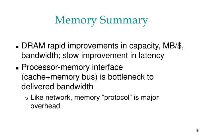 Memory Summary