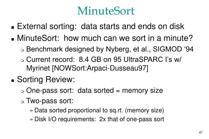 MinuteSort