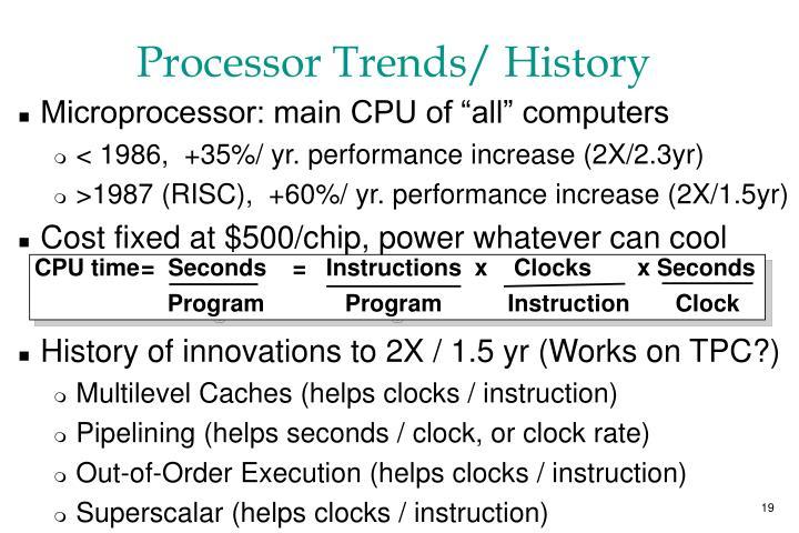 CPU time=  Seconds    =   Instructions  x    Clocks       x Seconds