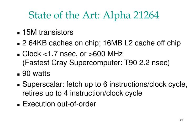 State of the Art: Alpha 21264