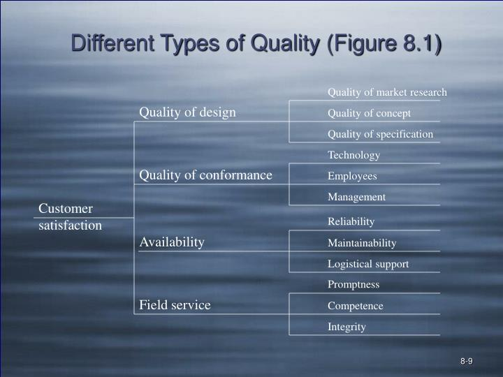 Different Types of Quality (Figure 8.1)