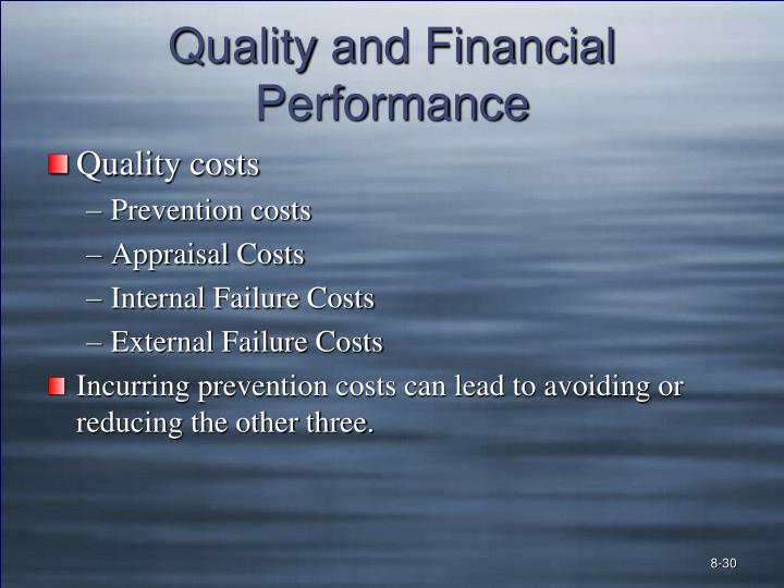 Quality and Financial Performance
