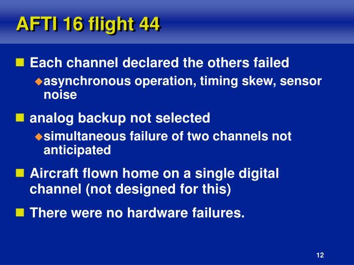 AFTI 16 flight 44