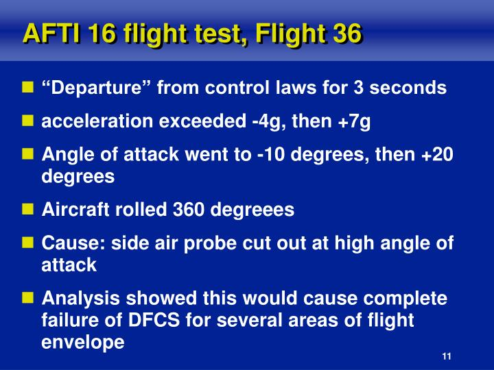 AFTI 16 flight test, Flight 36