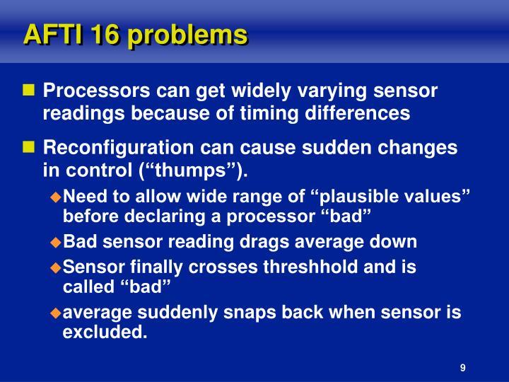 AFTI 16 problems