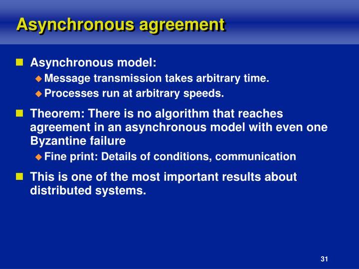Asynchronous agreement