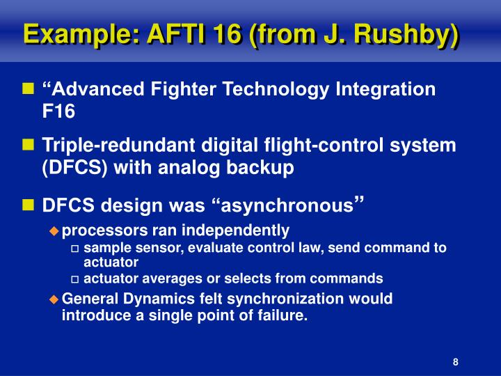 Example: AFTI 16 (from J. Rushby)