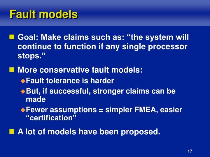 Fault models