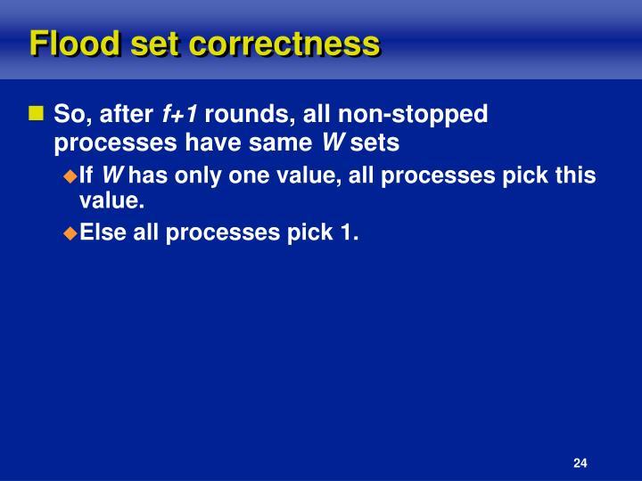 Flood set correctness