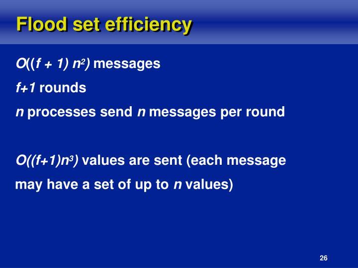Flood set efficiency