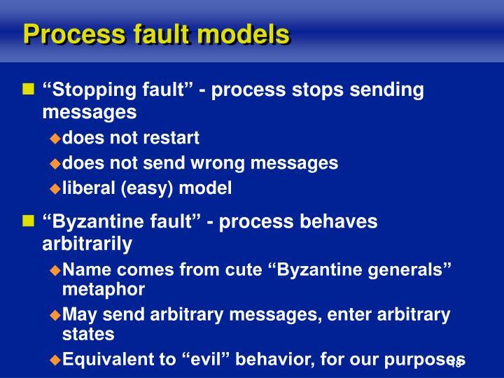 Process fault models
