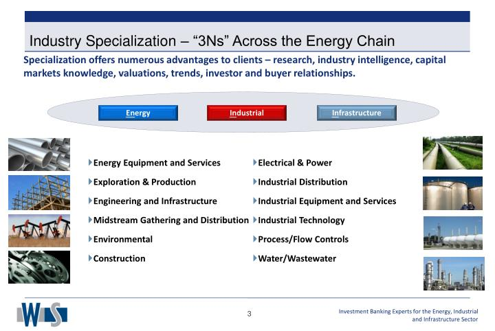 """Industry Specialization – """"3Ns"""" Across the Energy Chain"""