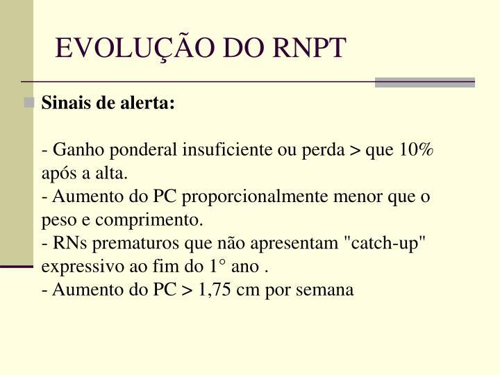 EVOLUÇÃO DO RNPT