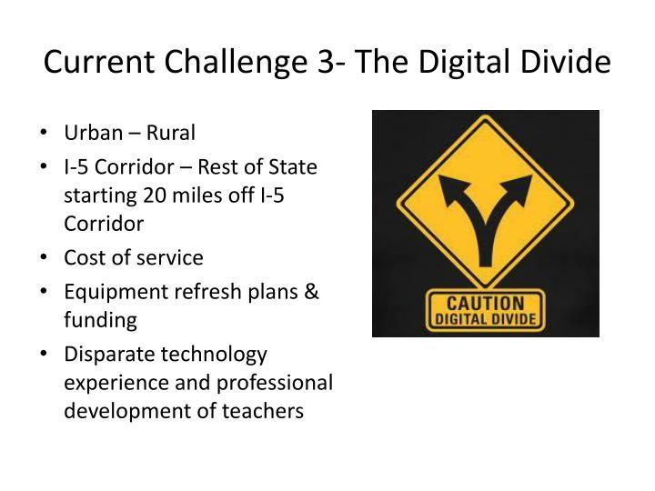 Current Challenge 3- The Digital Divide