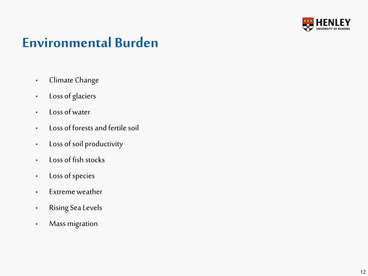 Environmental Burden