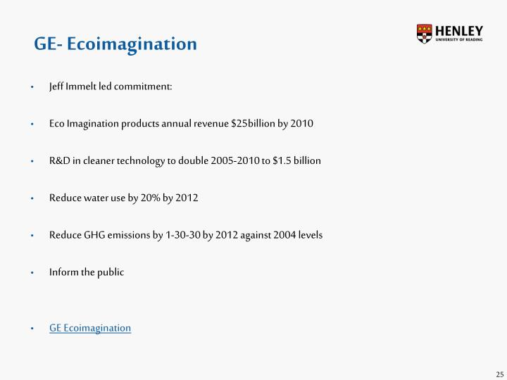 GE- Ecoimagination