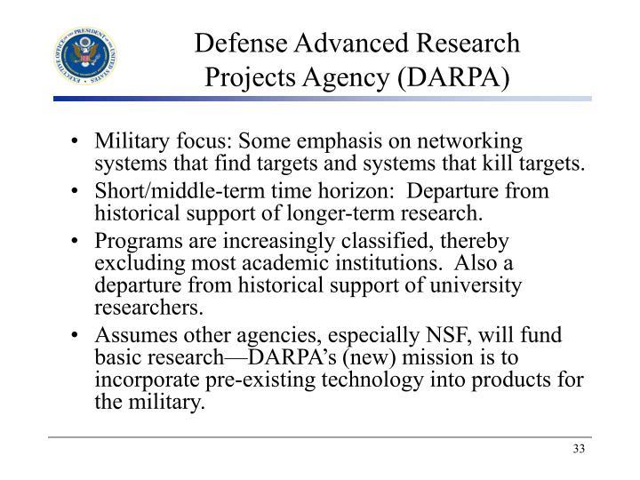 Defense Advanced Research