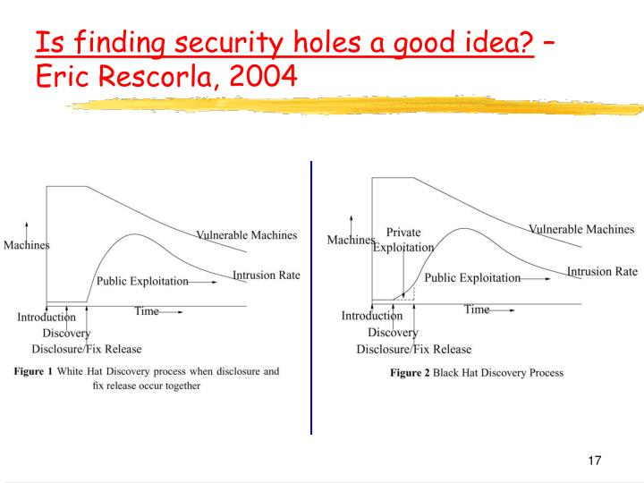Is finding security holes a good idea?