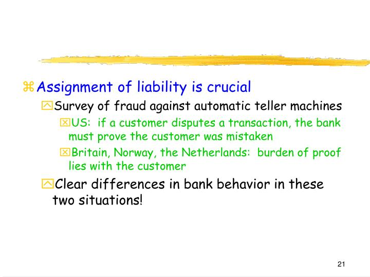 Assignment of liability is crucial