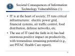 societal consequences of information technology vulnerabilities 1