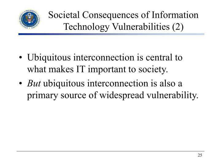 Societal Consequences of Information Technology Vulnerabilities (2)