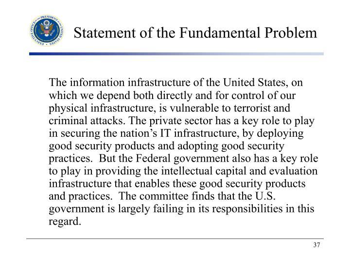 Statement of the Fundamental Problem