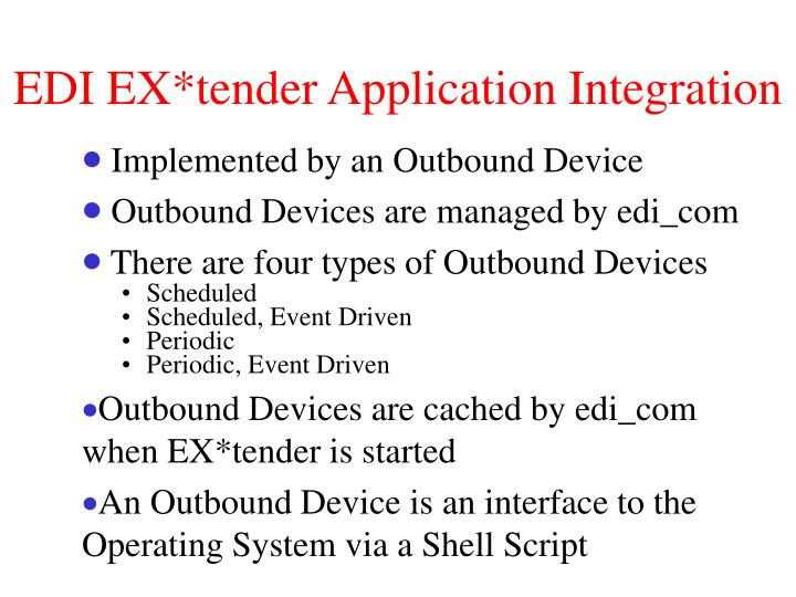 EDI EX*tender Application Integration