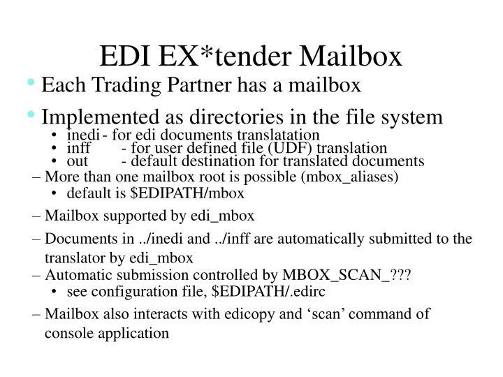EDI EX*tender Mailbox