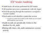 ex tender auditing