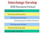interchange envelop edi document format