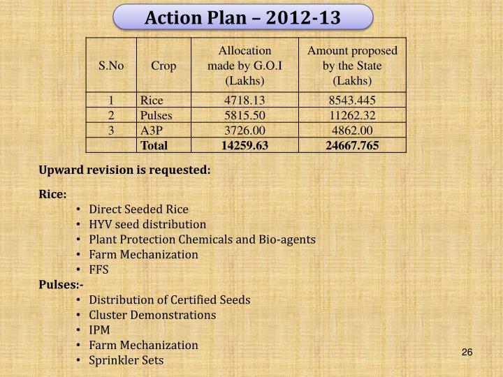 Action Plan – 2012-13