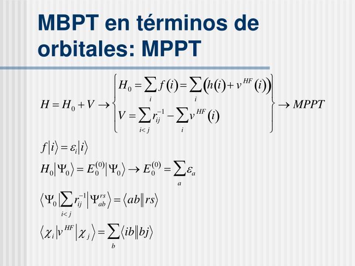 MBPT en t