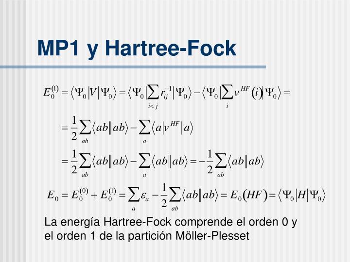MP1 y Hartree-Fock