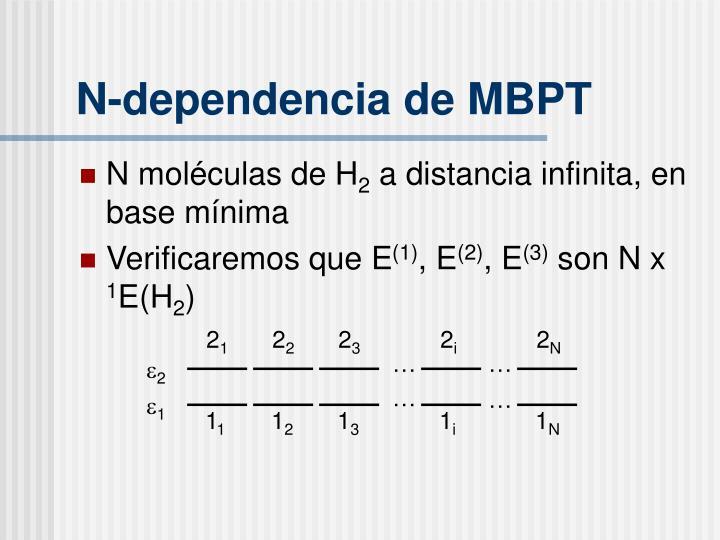N-dependencia de MBPT