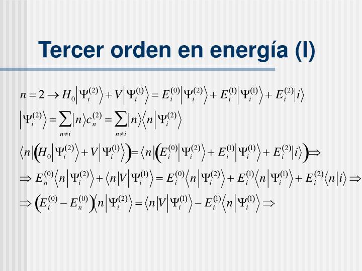Tercer orden en energ