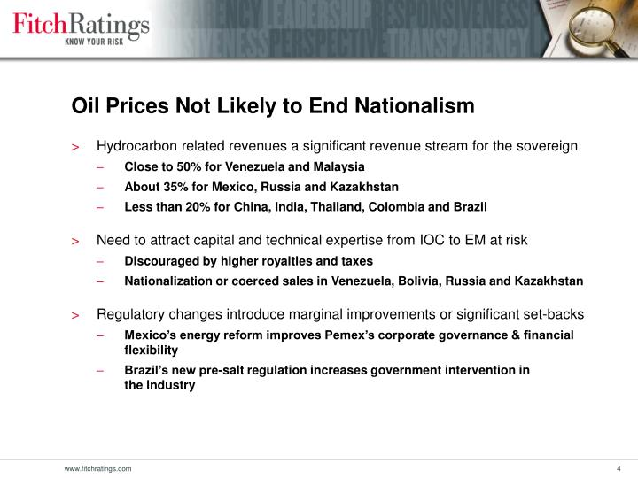 Oil Prices Not Likely to End Nationalism