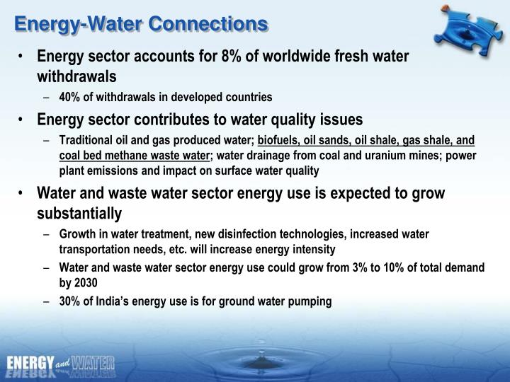 Energy-Water Connections