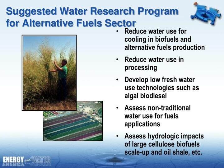Suggested Water Research