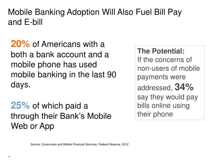 Mobile Banking Adoption Will Also Fuel Bill Pay and E-bill