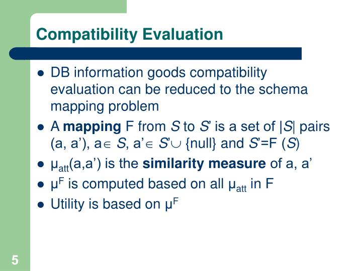 Compatibility Evaluation