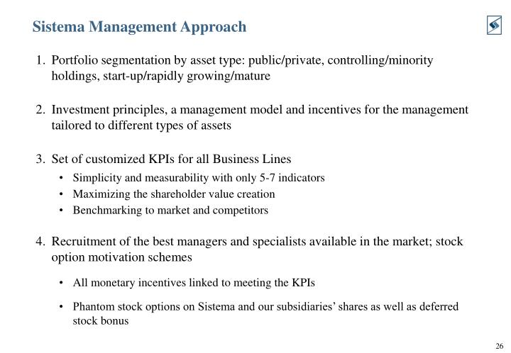 Sistema Management Approach